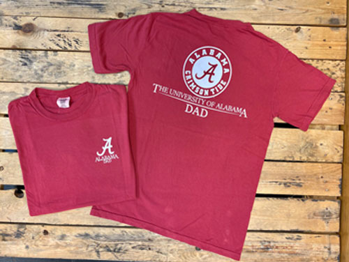 University of Alabama Dad Short Sleeve T-shirt
