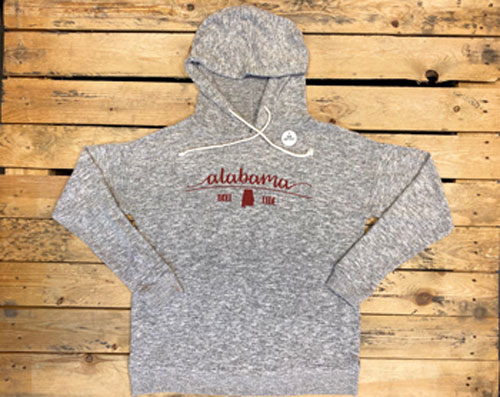 Alabama/State Cozy Tunic Hoody