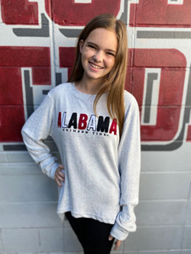 Alabama Cuddle Knit Chenille Crew