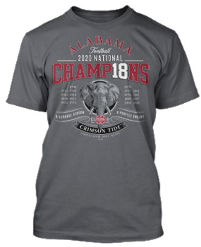 National Champs Elephant Engraved Tee