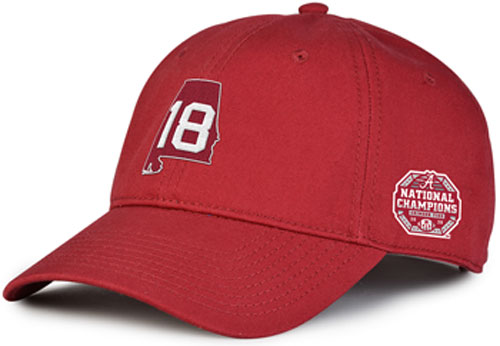 National Champs State/18 Cap - Crimson
